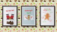 Trzy świąteczne plakaty. Grafiki po polsku do druku | Christmas posters