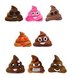 25cm Mini Cute Poop Shits Emoji Cushion Toy Doll Gift Present Funny Plush Bolster Cojines Bared Teeth Expression Pillow Cushion Excellent In Cushion Effect Table & Sofa Linens