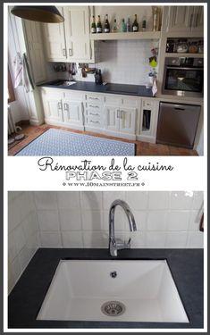 Rénovation de la cuisine phase 2 : évier, plan de travail et crédence