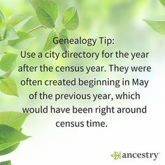 Have you used U.S. census and city directory information in tandem? #census…