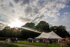 George & Sophie got married in our 9x15m Petal Pole Marquee in July at Queen Mary's School in Topcliffe, North Yorkshire.
