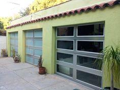 Steel-insulated with windows. Windows, Outdoor Decor, Garage Doors, Custom Garages, Glass Door, Modern, Doors, Insulated, Home Decor