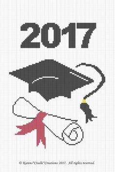 Crochet /Patterns - GRADUATION CAP AND DIPLOMA (YEAR) Graph/Chart Afghan Pattern | Crafts, Needlecrafts & Yarn, Crocheting & Knitting | eBay!