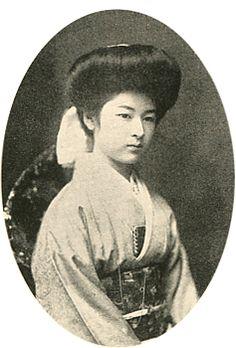 Imperial family's antique photograph.   Imperial's granddaughter, Hiroko. a countess. 1895-1990. Meiji-era/Taisyo-era.