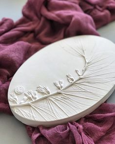 Polygonatum botanical bas-relief above mantel decor by DinaArtDecor. Oval flower wall art decor in farmhouse hallway & kitchen. Herbal 3D wall plaster cast. White oval botanical bas-relief for wall and table decor. The botanical panel is ideal for decorating the entrance hall, living room, kitchen, bedroom or baby room