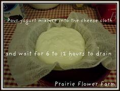 Soft yogurt cheese made easy!!!!!!!