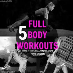 5 video #workouts from #FitFluential Ambassadors - target your upper body, lower body and core. Lisa Balash, Steve Pfiester and Shannon Colavecchio. More Videos Workout, Upper Body, Lower Body, Betterbelievefit Work, Fully Body, Entir Body, Full Body Workout, Workout Makefithappencontest, Workout Videos video workouts #makefithappencontest Great full body workout video 5 Workout Videos to Target Your Entire Body - Suuuperrrrr!!! - No gym? No problem. Here's a roundup of workouts you can do a...