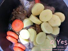 간장 돼지등뼈찜 황금레시피 :: 어마어마한 양이니 놀람주의 : 네이버 블로그 Korean Food, Pot Roast, Ethnic Recipes, Carne Asada, Roast Beef, Korean Cuisine