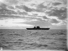 USS Saratoga (CV-3), seen from the flight deck of HMS Illustrious.