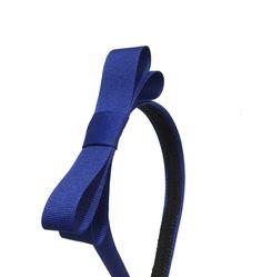 Royal Blue Bow Headband  3/4 inch Headband Blue w/ Bow Girl