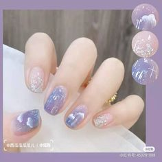 Cute Simple Nails, Cute Nails, Pretty Nails, Cute Nail Art, Nail Art Diy, Asian Nails, Korean Nail Art, Nails Now, Soft Nails