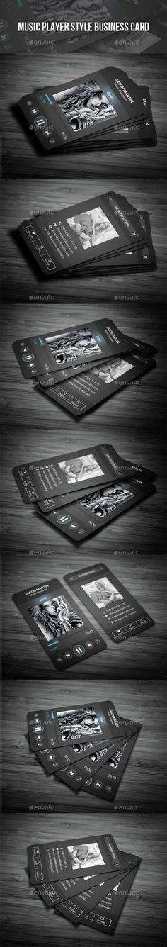 Music Player Style Business Card Template PSD. Download here: http://graphicriver.net/item/music-player-style-business-card/15150017?ref=ksioks