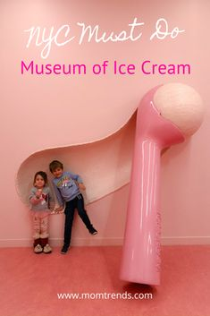 Family fun in New York City, checking out the Museum of Ice Cream. Museum Logo, Ice Cream Museum, Louvre Museum, Ice Cream Business, Gelato Shop, Cafe Interior Design, Ice Cream Parlor, Coffee Shop Design, Exhibition