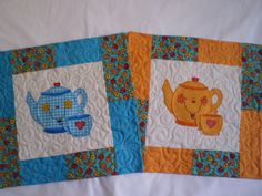 Love these mug rugs!   This would be a cute take home for the Moms with a mug to match and candy in the mug.