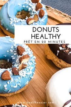 58 Ideas healthy recipes smoothies honey for 2019 Healthy Recipes Dinner Weightloss, Healthy Low Carb Recipes, Healthy Meals For Two, Healthy Breakfast Recipes, Chocolate Protein, Vegan Chocolate, Manger Healthy, Desserts Sains, Healthy Donuts