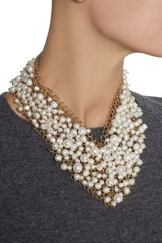 RosanticaOsiris gold-dipped pearl necklaceoutfit