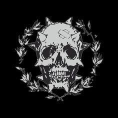 53dab885 Skull Wreath Men's T-Shirt by Glrdokia - Cloud City 7 Cloud City, Drawing