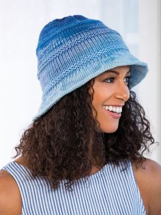 Beginners Cabled Hat Knit Kit with Encore Worsted Yarn Purple Bell