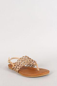 metallic flat sandal via urbanog//