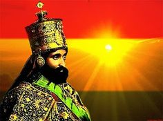 Haile Selassie, descendente da Rainha de Sabá e do Rei Salomão, Etiópia. Governou a Etiópia de 1930 a 1974, é também conhecido como Ras Tafari, o messias da religião Jamaicana de mesmo nome.