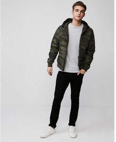 camo hooded puffer coat#Men #Style #Camo #Street #Style #Casual #Men #TRend #Trendy #Men
