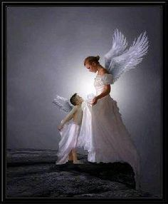 Mothers never really die, They just keep house up in the sky. They polish the sun by day and light the stars that shine at night, Keep the moonbeams silvery bright and in the heavenly home above They wait to welcome those they love. ~ Unknown :)♥