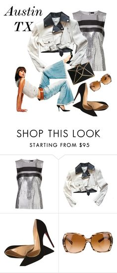 """""""Outfit TX"""" by secureyourlunch ❤ liked on Polyvore featuring Paco Rabanne, Jean-Paul Gaultier and Christian Louboutin"""