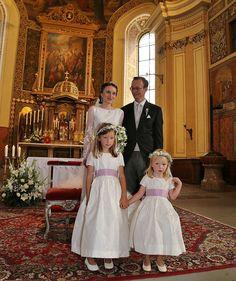 Magdalena Maria Sophie of Habsburg-Lorraine, and Sebastian Bergmann's wedding. She wears her mother's wedding dress and tiara.