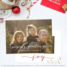 Hazy Skies Designs offers a large variety of fun and unique holiday card templates that your clients will love!  • 7 x 5 Flat Card Template for