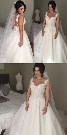 Charming Straps V-neck Empire Long Wedding Dresses With Beading 016715152d9f