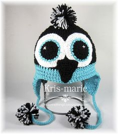 The Crafting Secretary:    Cute Penguin Hat + free crochet pattern