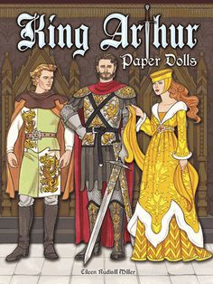 This gorgeous book of paper doll art features five costumed dolls ― Arthur, Guinevere, Lancelot, Merlin, and Morgan le Fay ― each with additional outfits and accessories, plus a colorful backdrop.