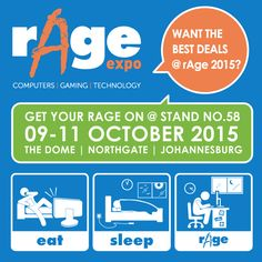 rAge2015  See you there! Expo 2015, Gaming Computer, Rage, You Got This, Good Things, Technology, Tech, Its Ok, Tecnologia