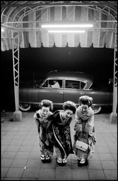 "yellowplushpapers: "" Dennis Stock Geishas, Japan (x) """