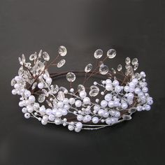 Hey, I found this really awesome Etsy listing at https://www.etsy.com/listing/215607691/bridal-hair-vine-pearl-and-crystal
