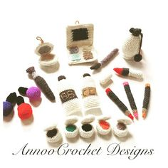 Amigurumi patterns for cosmetics. (Free Amigurumi Patterns)