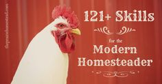 121+ Skills for the Modern Homesteader. How many are you capable of? #homesteading #skills