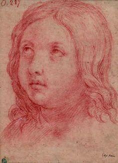elisabetta sirani (1638 1665)jeune garçon sanguine