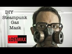 How To Make a DIY Steampunk Gas Mask. Tutorial and Pattern - YouTube