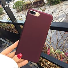 LACK Hot Selling Wine Red Phone Cases For iphone7 Newest Fashion ultra thin Frosted For iphone 7 6 6S Plus 5 5S Back Cover Funda