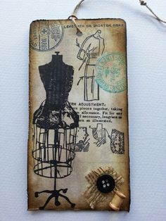 Tim Holtz 12 tags of 2013 - August,  Sewing Room
