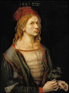 Albrecht Dürer (1471-1528, Germany) | Self-portrait, 1493
