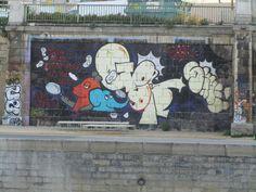 Graffito Donaukanal Wien Graffiti, Snoopy, Fictional Characters, Art, Art Background, Kunst, Performing Arts, Fantasy Characters, Graffiti Artwork