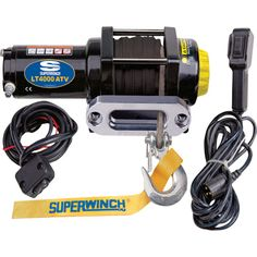 Superwinch LT4000ATV SR 12 Volt DC Powered Electric ATV Winch — 4000-Lb. Capacity, 50ft. Synthetic Rope, Model# 1140230