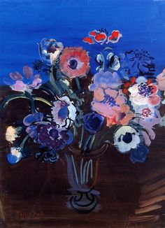 ¤ Still life. Anemones by Raoul Dufy