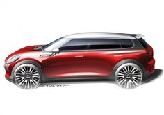 MINI Clubman Concept Design Sketch