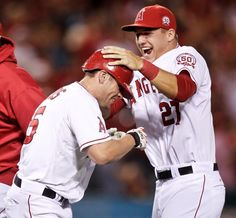 Peter Bourjos and Mike Trout