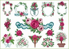 Sweet Fashion Roses Embroidery Designs