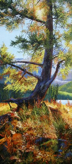 """""""Stand Alone"""" Original Oil on Canvas by Andrew Kiss. 16 x 36"""