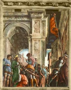 Andrea Mantegna, Saint Jacques sur le chemin du supplice, 1455, fresque de l'église des Eremitani, Padoue